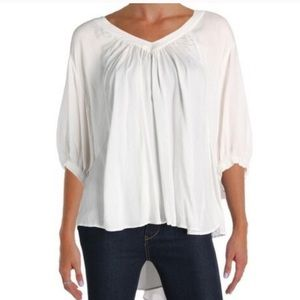 Free People V-Neck Oversized Too White L